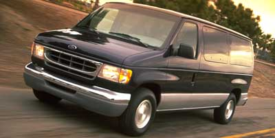 1999 FORD ECONOLINE WAGON E-150 46l efi v8 Rear-wheel drive 8-passenger seating Black plastic