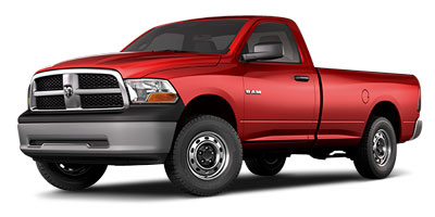 2010 DODGE RAM 1500 4WD REGULAR CAB 5-Speed AT 57L 8 Cylinder Engine Four Wheel Drive AC Ga