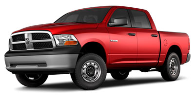 2010 DODGE RAM 1500 2WD CREW CAB 1405 5-Speed AT 47L 8 Cylinder Engine Rear Wheel Drive Auto